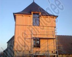 """Janvier Constructions Bois - Trégastel - Création extension """"tour de manoir"""" HENGOAT 22"""