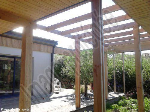 extension terrasse couverte extension terrasse couverte agracable construire un auvent de. Black Bedroom Furniture Sets. Home Design Ideas