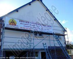 Janvier Constructions Bois - Trégastel - Isolation par l'extèrieur (ITE)