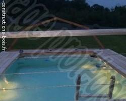 Janvier Constructions Bois - Trégastel - Ossature piscine